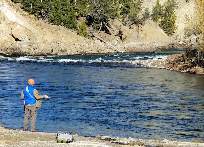 sideways with your fly rod