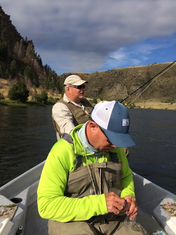 fly fishing from a drift boat